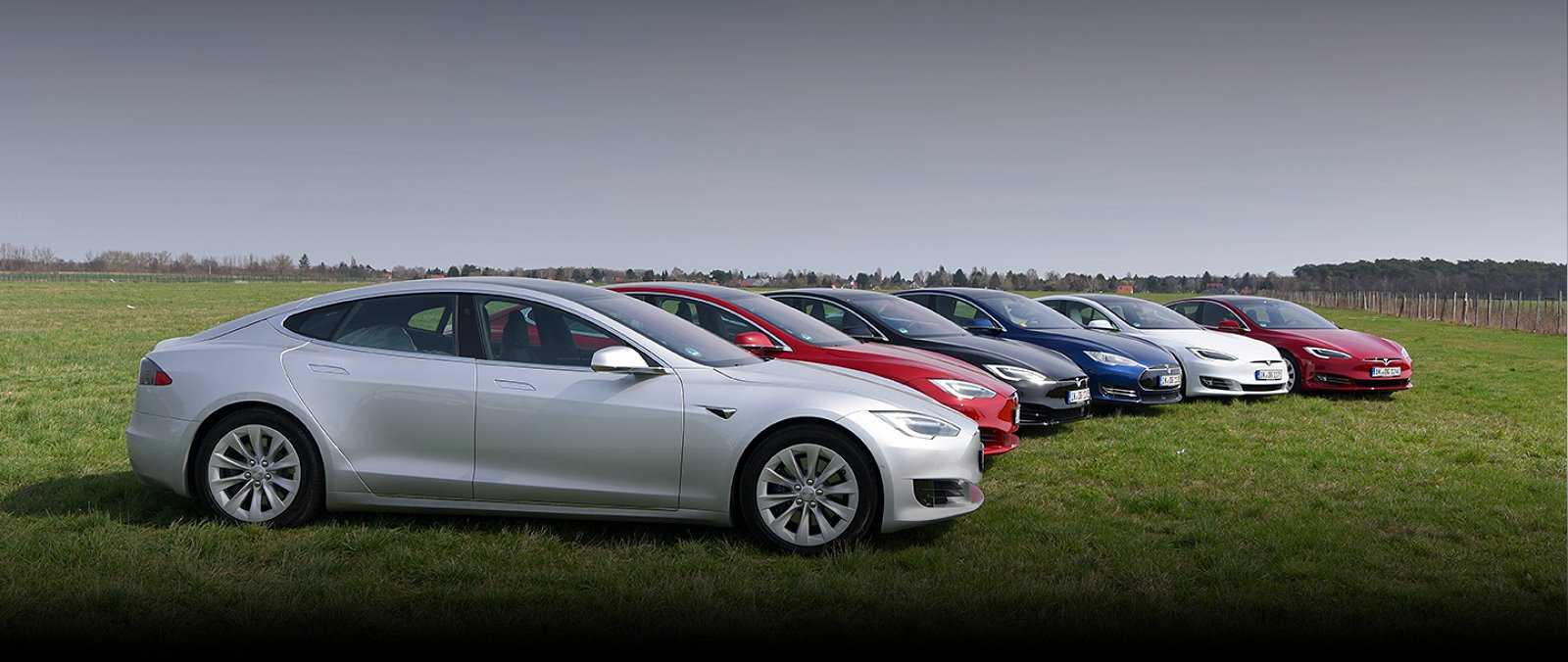 7 TESLA Model S im cyx Fuhrpark