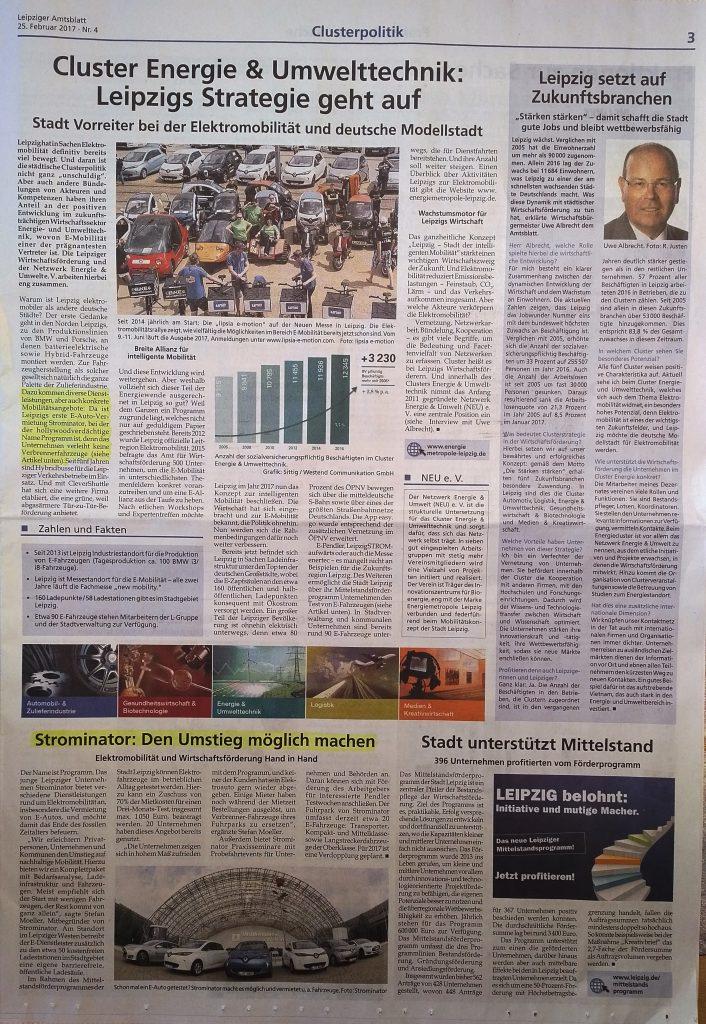 Strominator im Leipziger Amtsblatt - Elektromobilität