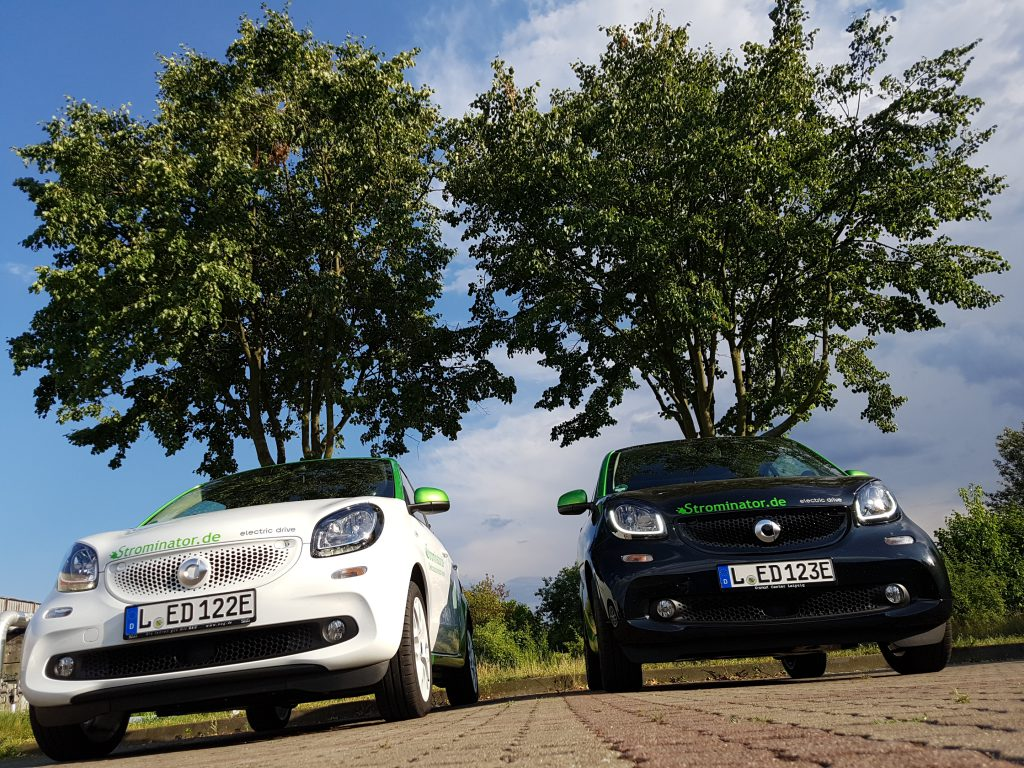 smart electric drive fortwo und forfour Mietwagen Strominator