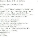 Maxi ZE weiß, feste Trennwand, AHK, 2 Schiebetüren