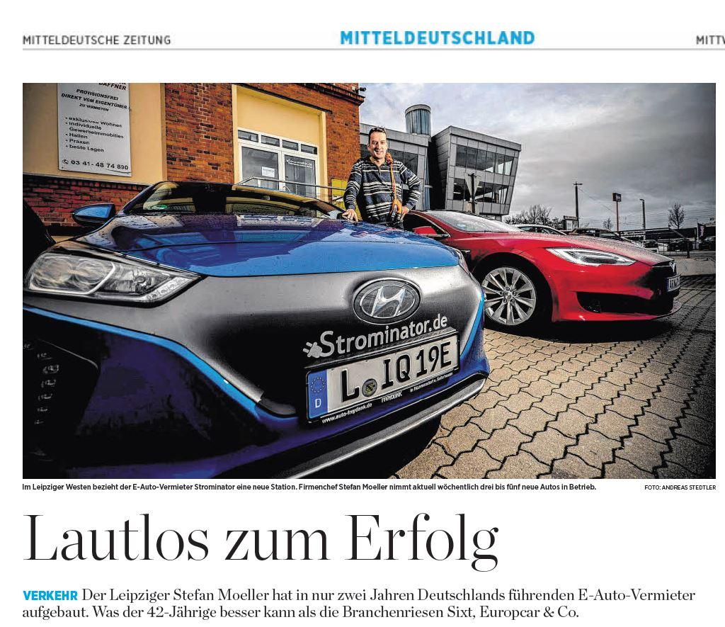 Mitteldeutsche Zeitung Strominator Lautlos zum Erfolg 10 Januar 2018