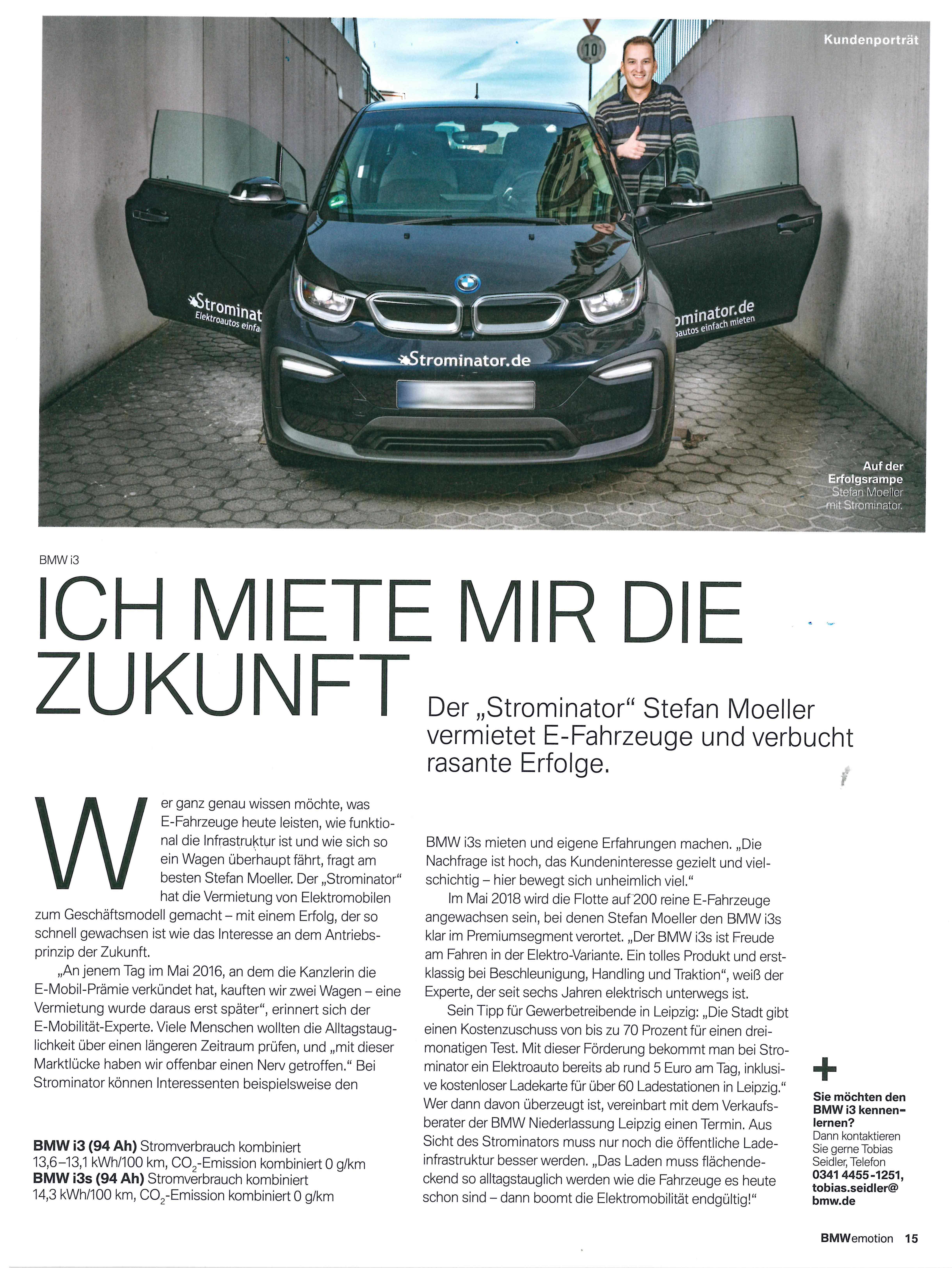 Strominator Stefan Moeller im Interview mit BMWemotion