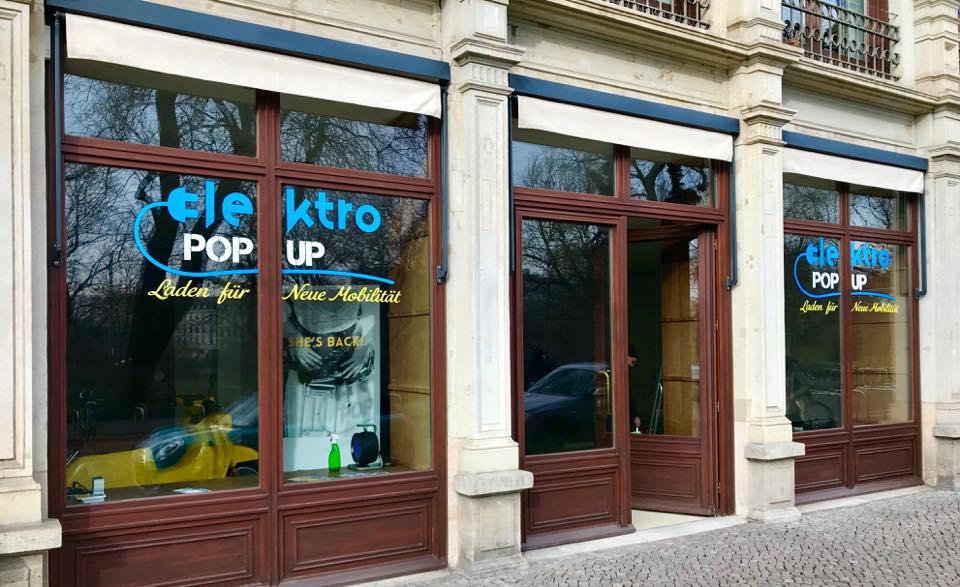Popup Laden Elektromobilität Leipzig