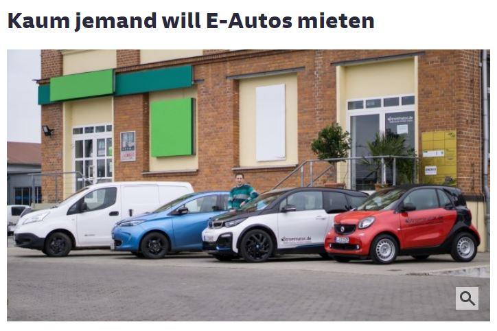 Strominator Süeddeutsche Zeitung Kaum einer will Elektroautos mieten