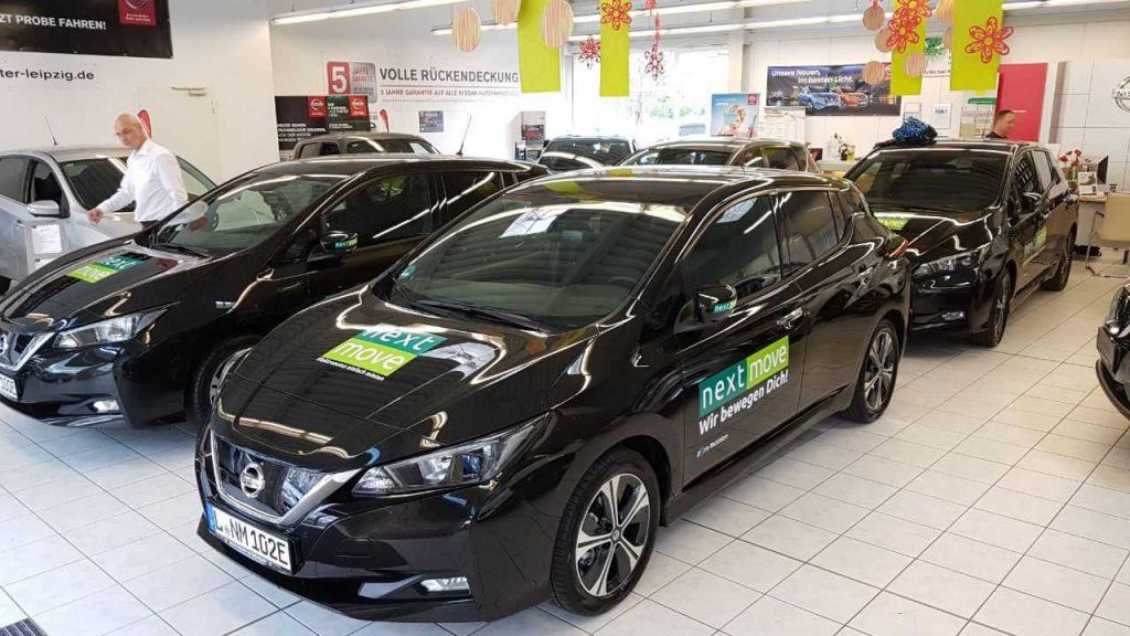 Nissan Leaf ganz in schwarz Autohaus
