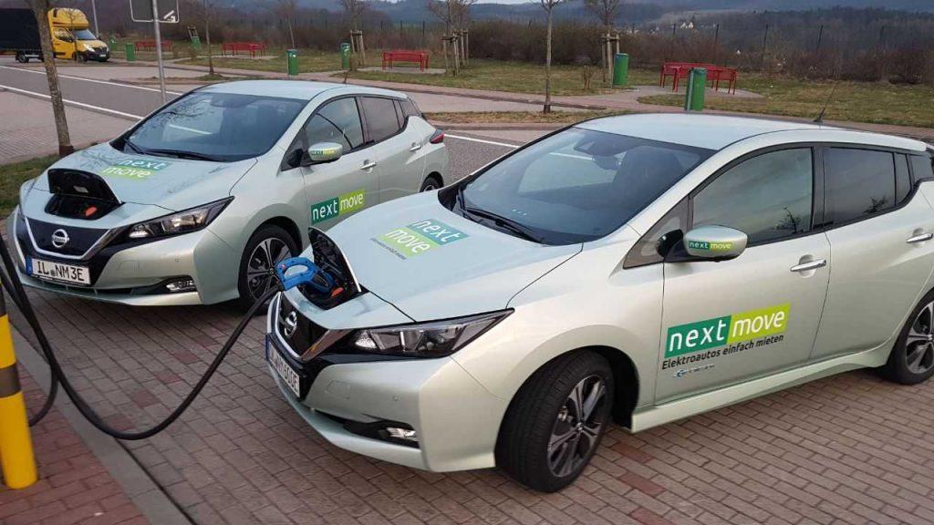Aufladen des Nissan Leaf Elektroauto