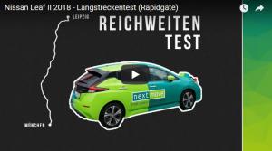nextmove Nissan Leaf Rapidgate Reichweitentest Langstrecke Ladegeschwindigkeit