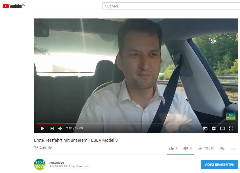 nextmove - Video Tesla Model 3 Langstreckentest