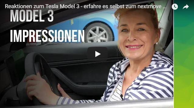 Reaktionen von Menschen auf das Tesla Model 3 - www.nextmove.de Tesla mieten