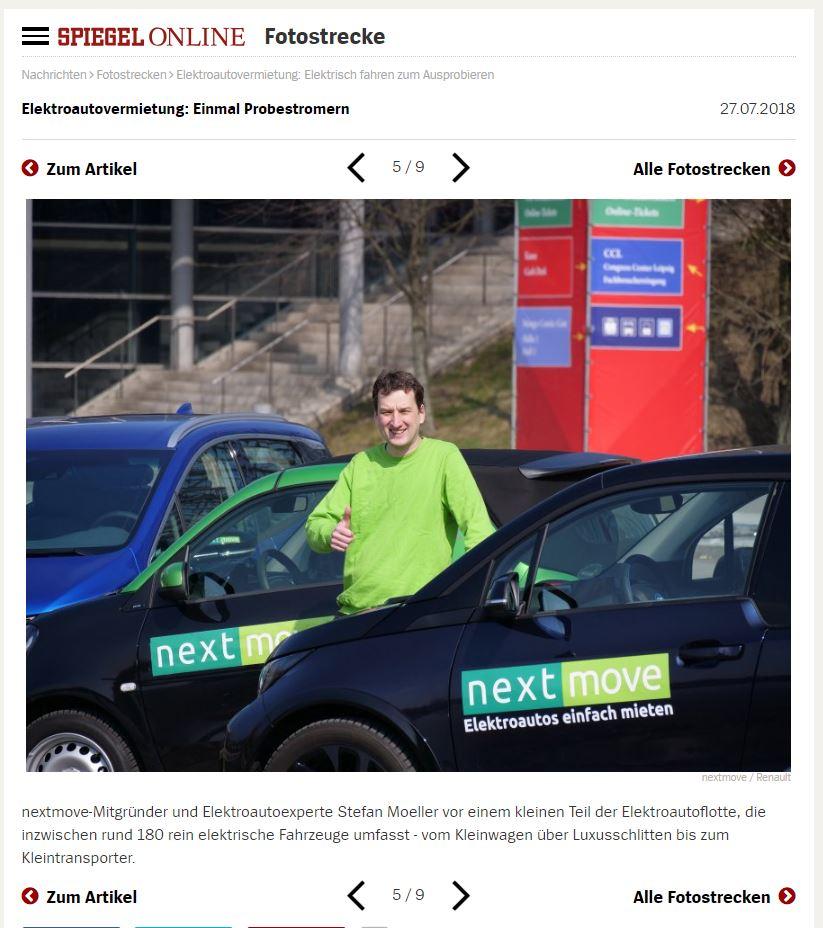 nextmove - Spiegel Online - Elektroautovermietung