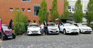 Fünf Elektroautos der E-Auto-Vermietung nextmove