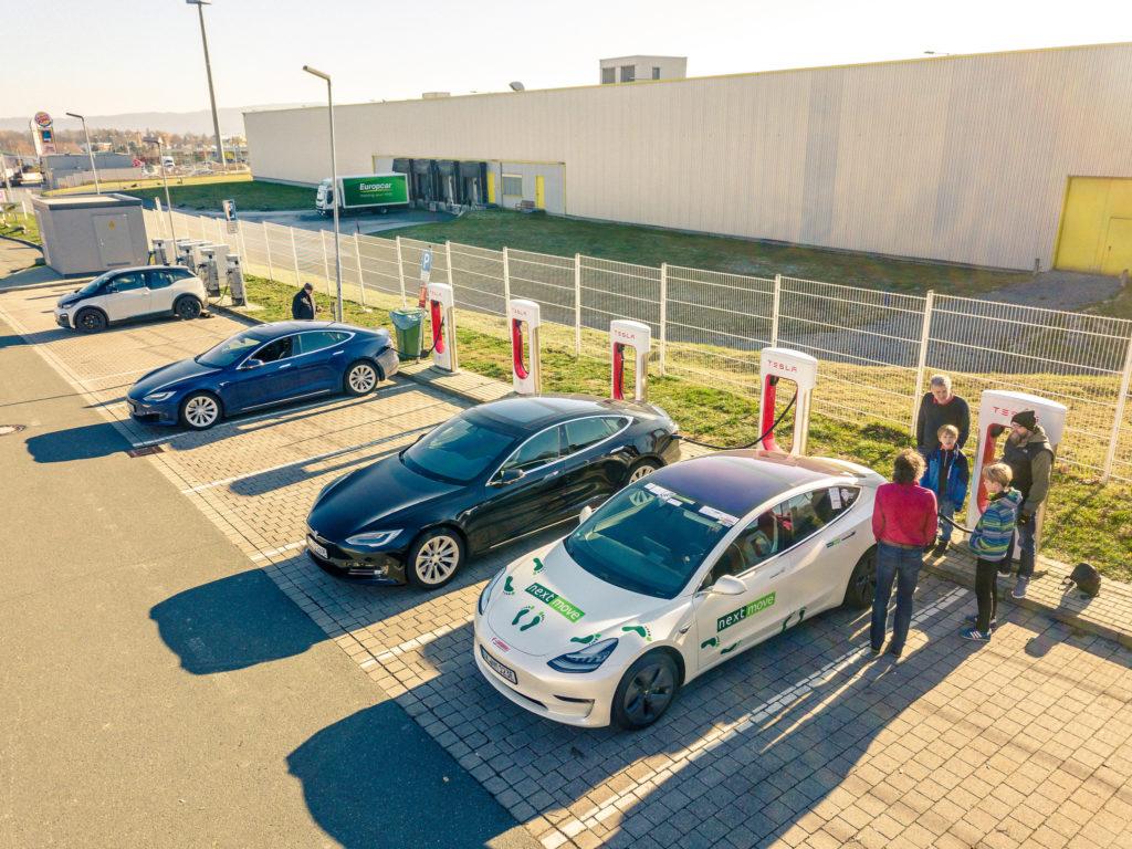 nextmove e-Cannonball Tesla Model 3 Cleanelectric Supercharging