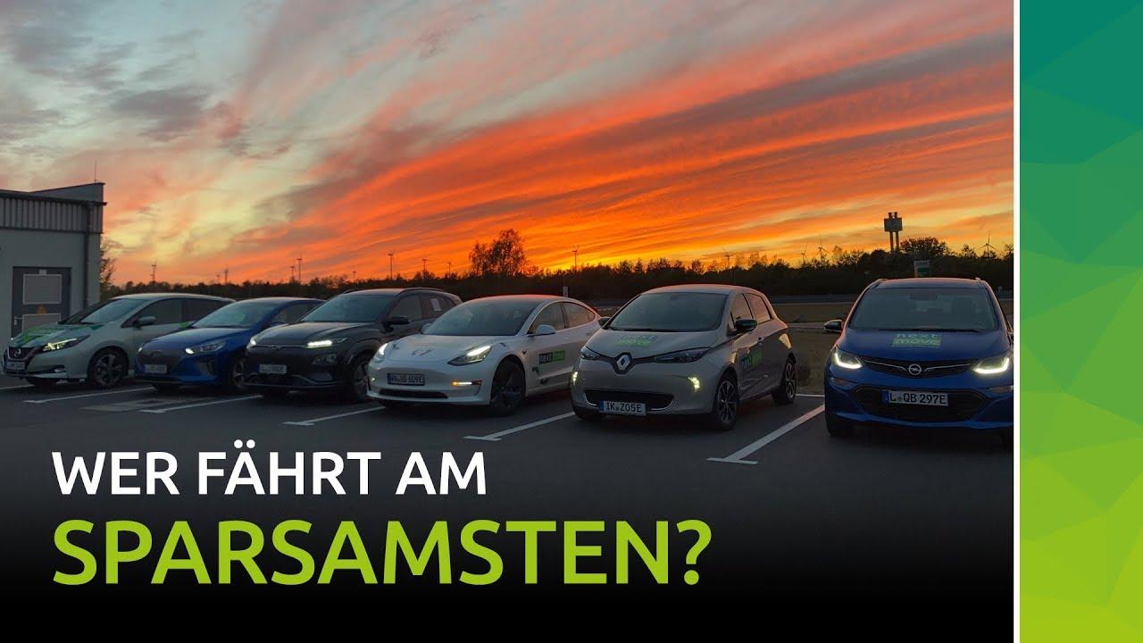 Elektroautos einfach mieten Vergleichsfahrt Verbrauch Reichweite Model 3 Kona IONIQ LEAF Zoe