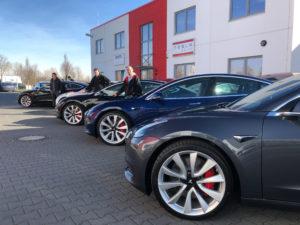 nextmove Tesla Model 3 Einflottung mehrerer E-Autos aus Kalifornien
