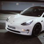 Getuntes Tesla Model 3 aus der nextmove-Flotte - Front-Detail