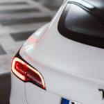 Getuntes Tesla Model 3 aus der nextmove-Flotte - Heck-Detail