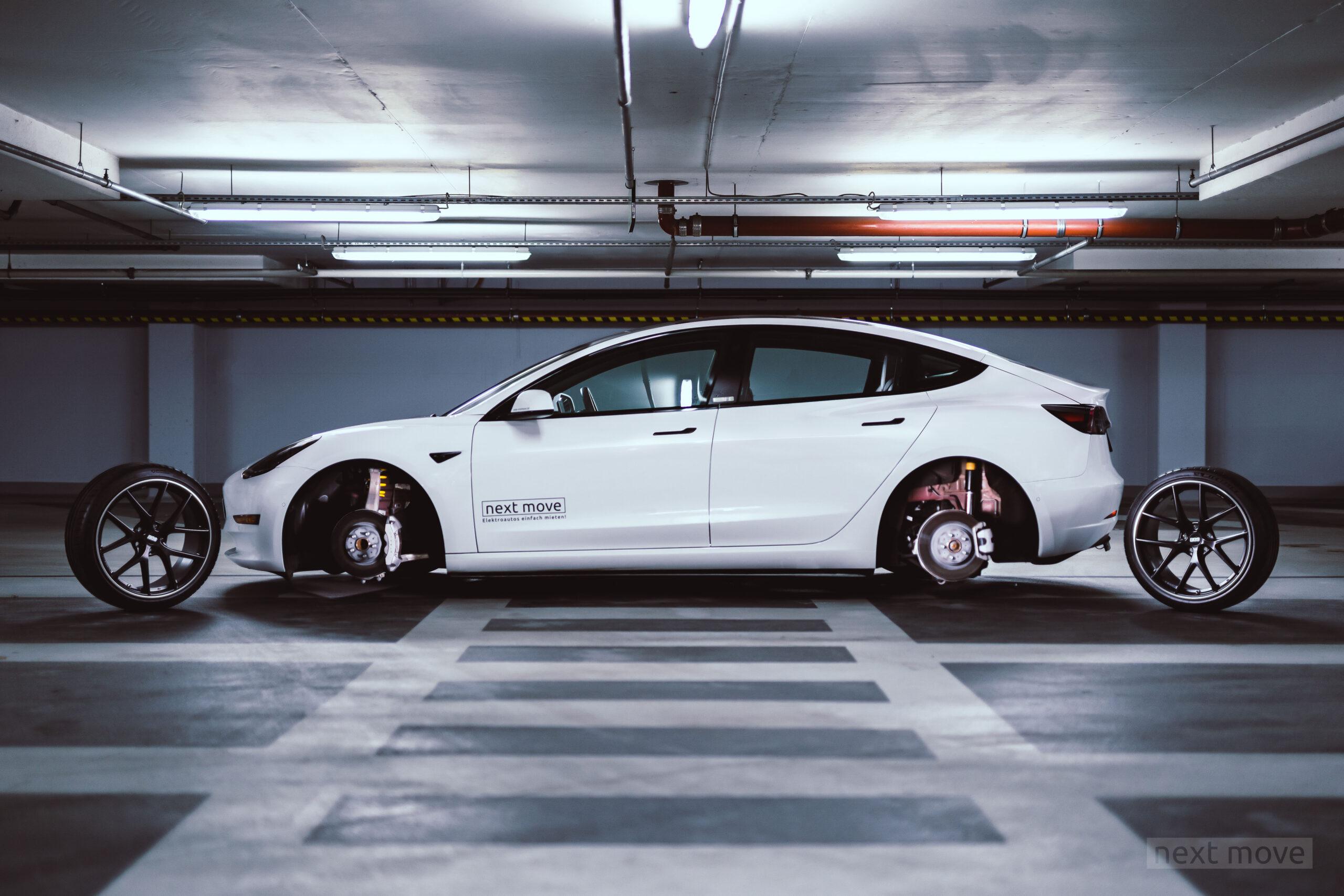 Getuntes Tesla Model 3 aus der nextmove-Flotte - Gesamtansicht