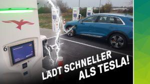 nextmove Audi etron lädt schneller als Tesla bei 0 auf 100%