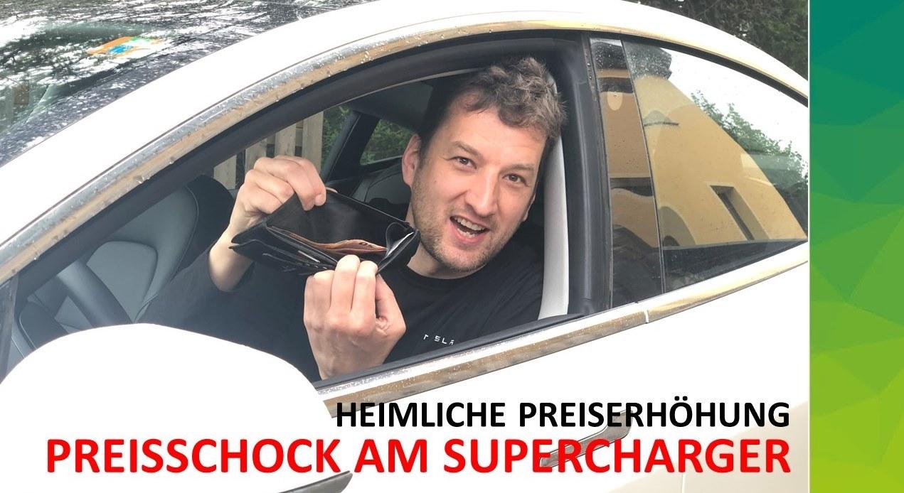 Heimliche Preiserhöhung: Preisschock am Tesla-Supercharger
