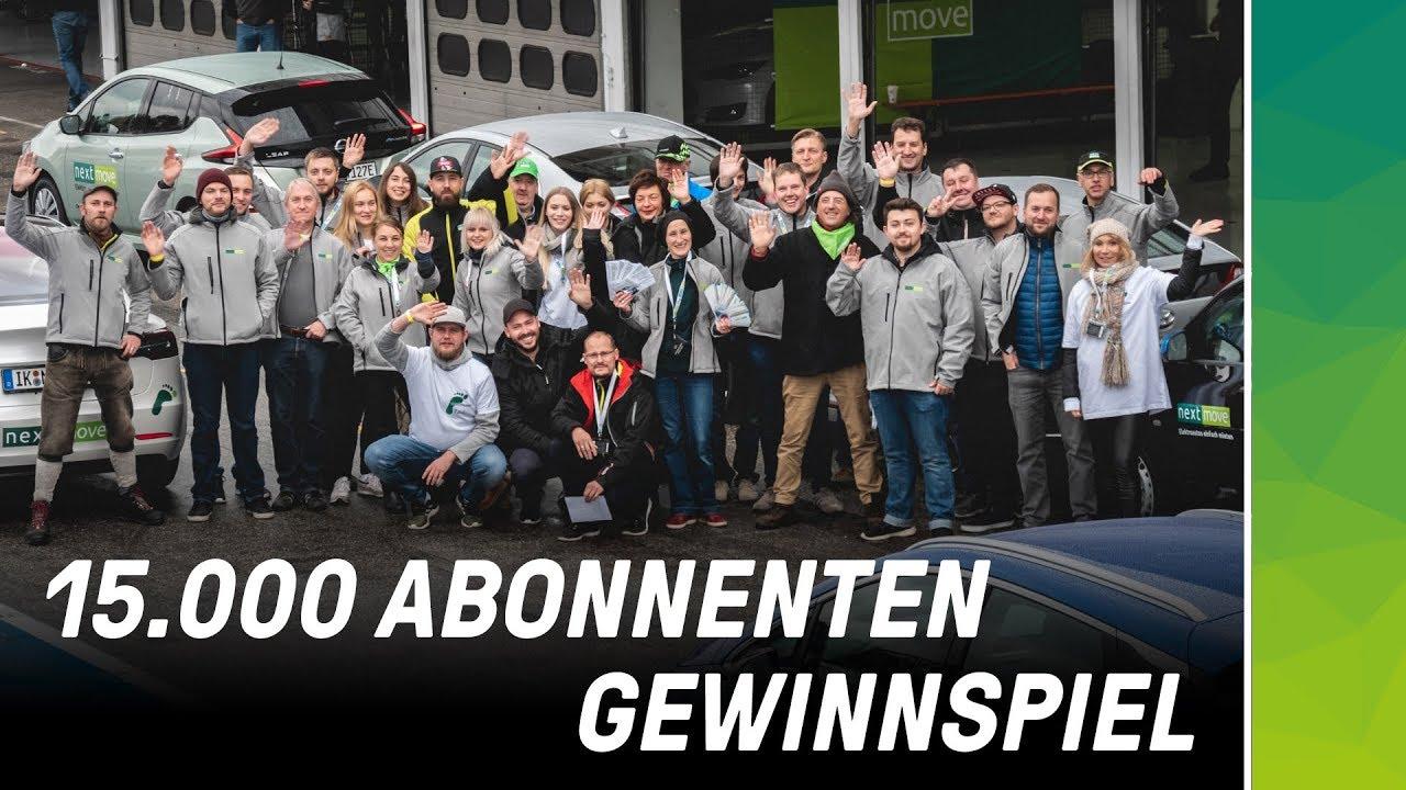 15000 youtube abonnenten + gewinnspiel elektroauto gewinnen