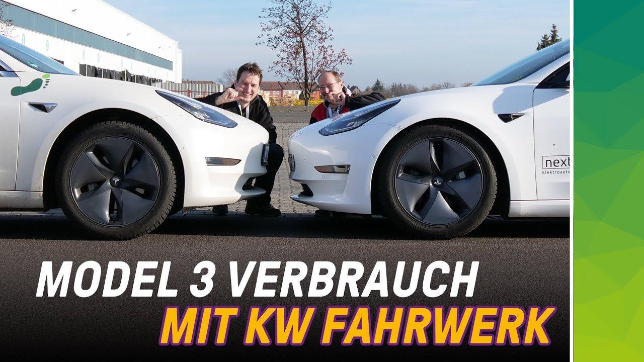 nextmove KW Gewindefahrwerk erhöht Reichweite des Tesla Model 3