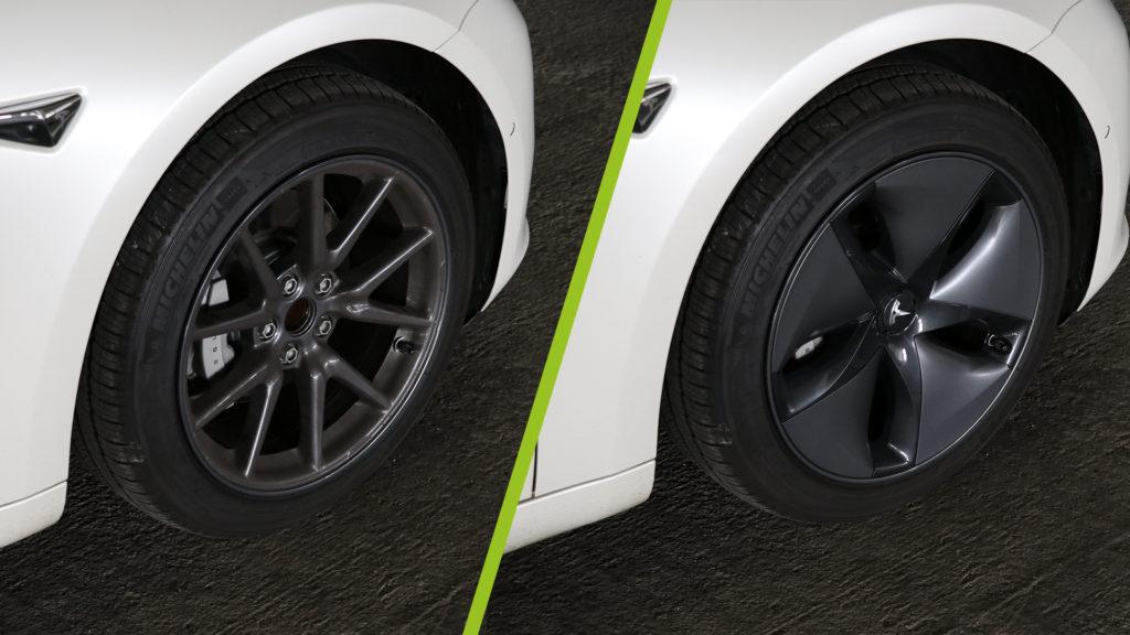 Aero Felgen Tesla Elektroauto