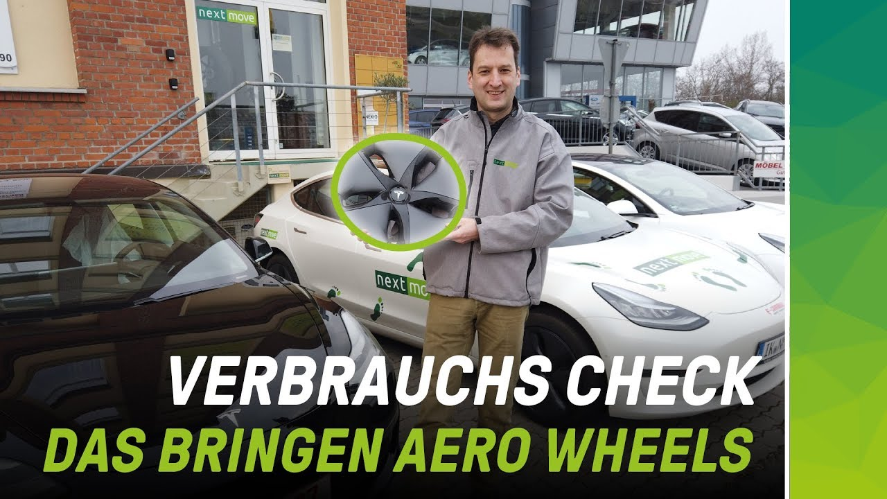 nextmove Tesla Model 3 Aero Wheels Verbrauchsfahrt - Video Stefan Moeller