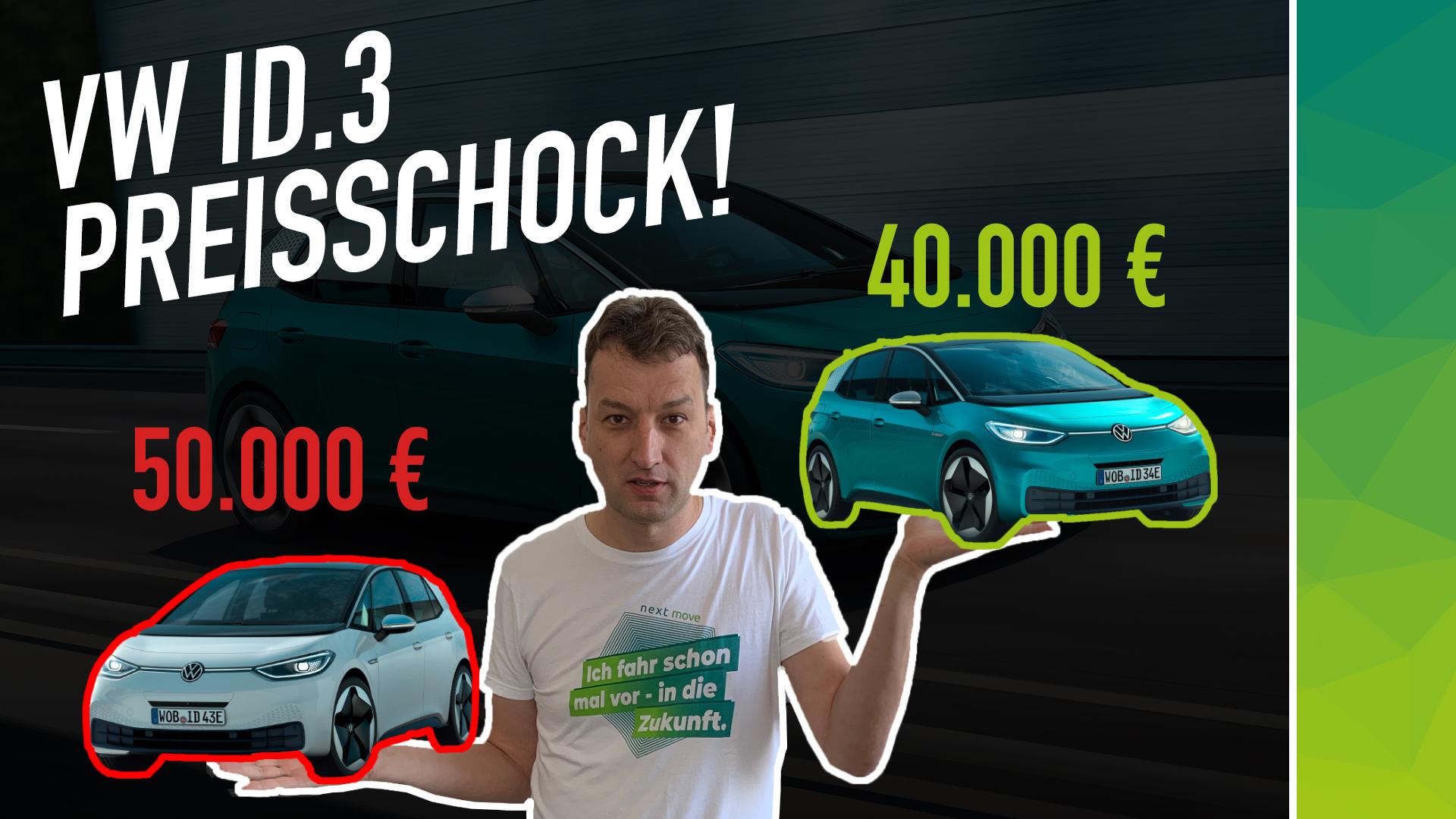 VW ID3 Preise und Konfiguration nextmove Preisschock Elektroauto