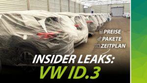 VW ID.3 Geleakte Informationen