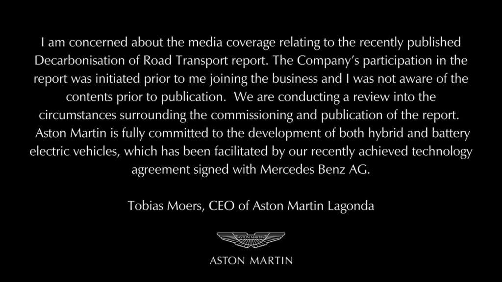 Aston Martin Entschuldigung