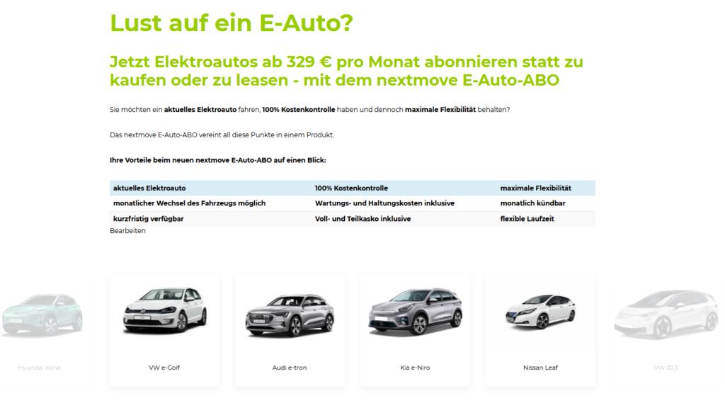 E-Auto Abo Nextmove