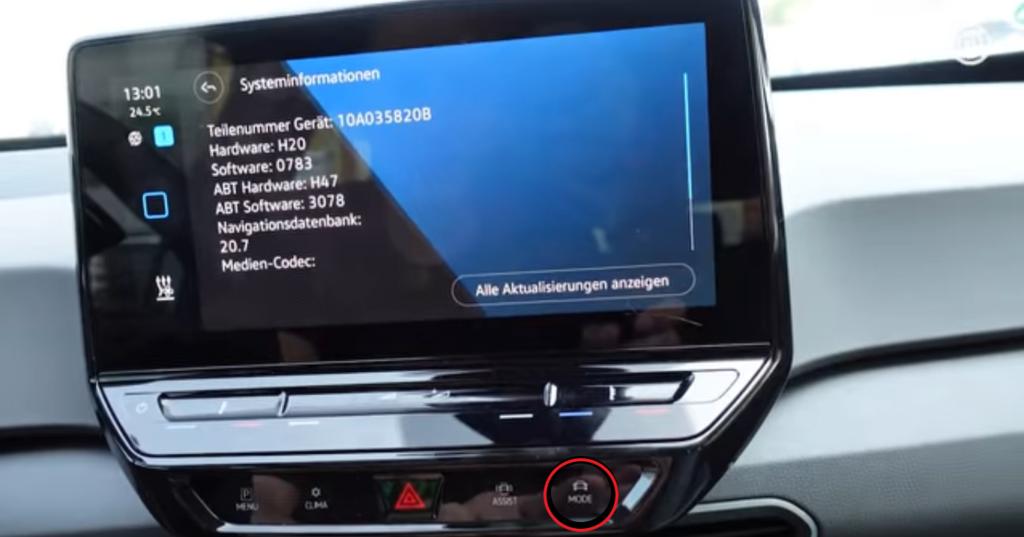 VW ID.3 veraltete Software