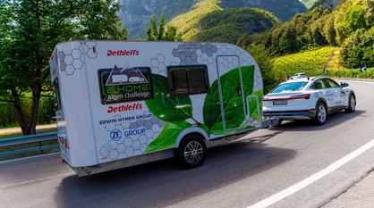 Elektro-Wohnwagen mit Akku
