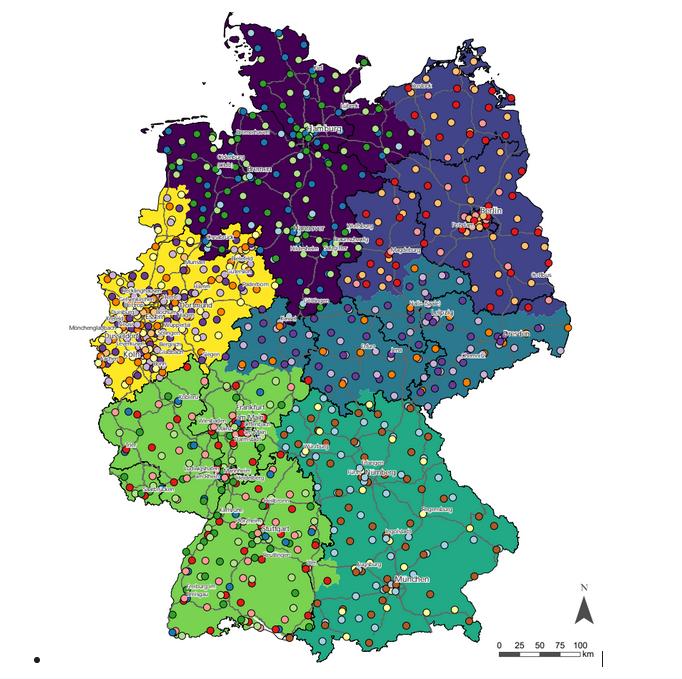 Aufteilung Deutschlandnetz